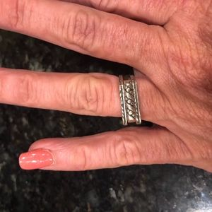 Sterling Silver Set of 3  Stacking Rings 6 .75